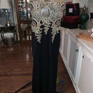 Black gold fashion gown